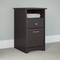 Espresso Oak 2 Drawer File Cabinet - Cabot