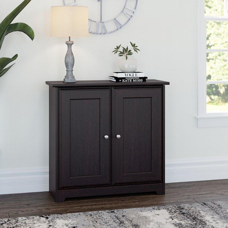 Espresso Oak 2-Door Low Storage - Cabot