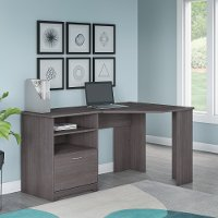 Heather Gray Corner Desk - Cabot