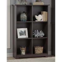 Heather Gray 6-Cube Bookcase - Cabot