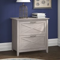Gray 2 Drawer Lateral File Cabinet - Key West