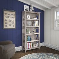 Gray 5-Shelf Bookcase - Key West