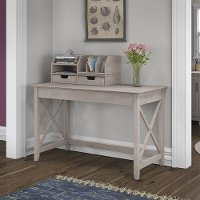 Gray Writing Desk and Organizer (48 Inch) - Key West
