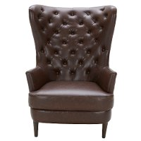 Brown Wingback Chair - Nicole