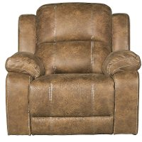 Badlands Saddle Brown Rocker Recliner - Charlotte