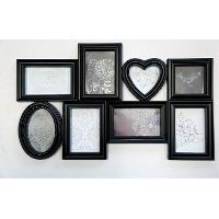 Black 8-Picture Frame Collage