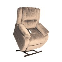 Taupe Chaise Power Reclining Lift Chair