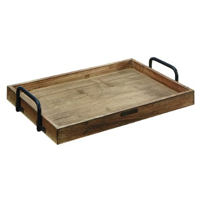 Magnolia Home Furniture Pine Breakfast Tray With Black Handles
