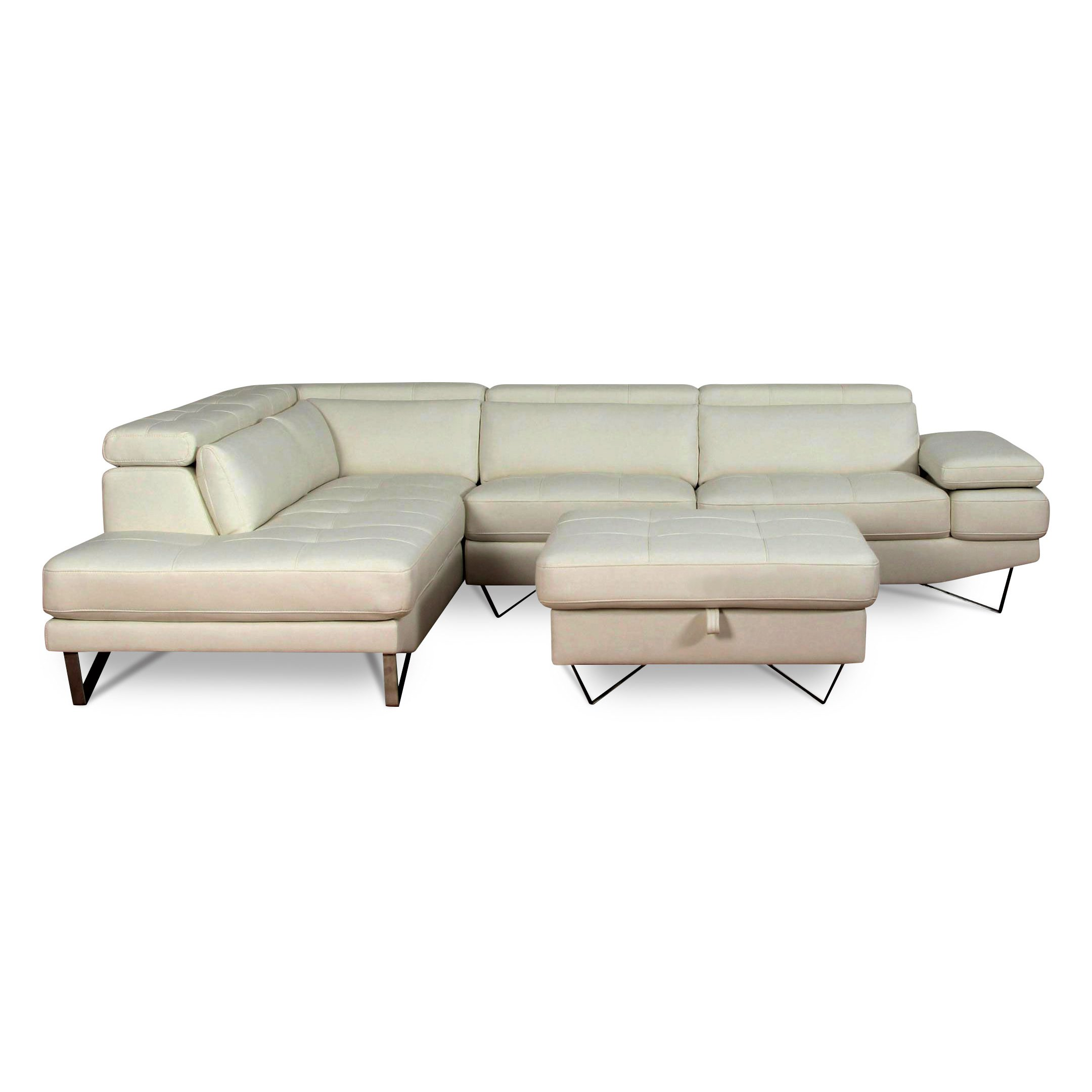 Modern White 2 Piece Sectional Sofa With RAF Sofa   Liberty | RC Willey  Furniture Store