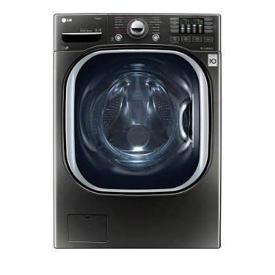 WM4370HKA LG Front Load Washer - 4.5 cu. ft. Black Stainless Steel
