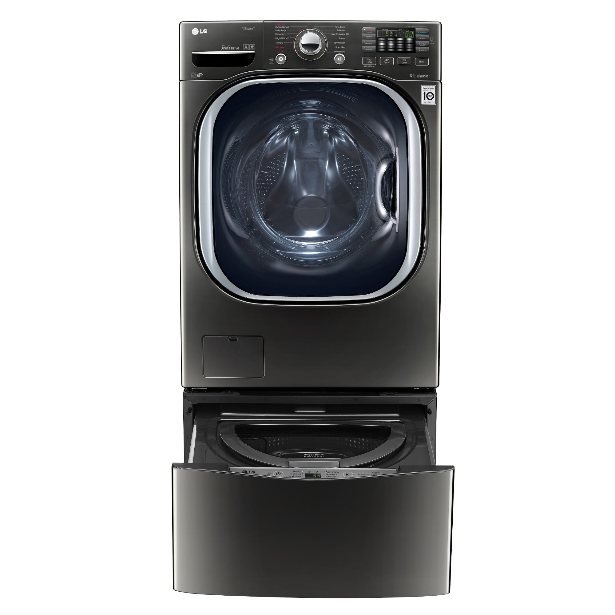 Lg Front Load Washer 4 5 Cu Ft Black Stainless Steel Rc Willey Furniture