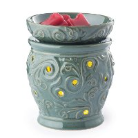 GWOCS/OCEANSIDE/2IN1 Teal 2-In-1 Flickering Fragrance Candle Warmer - Candle Warmers