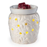 GWVEN/VIENNA/2IN1 Ivory 2-In-1 Flickering Fragrance Candle Warmer - Candle Warmers