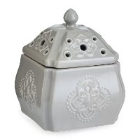 WMCRM/CHATEAU/BREEZE Soft Gray Candle Breeze Fan Fragrance Warmer - Candle Warmers