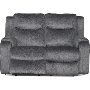 ... Dusk Gray Manual Recliner Loveseat - Marvel  sc 1 st  RC Willey & RC Willey has reclining loveseats for your living room islam-shia.org