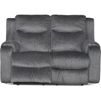 Dusk Gray Power Reclining Loveseat