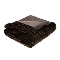 Brown Faux-Fur Over-Sized Throw - Hutchins