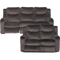 Coffee Brown Power Reclining Living Room Set - Marvel