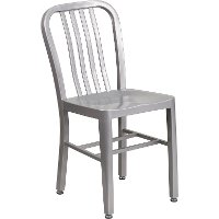 Silver Metal Indoor-Outdoor Chair