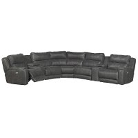 Slate Gray 7 Piece Power Reclining Sectional Sofa - Dazzle