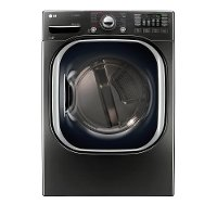 DLEX4370K LG Electric Dryer with Steam - 7.4 cu. ft. Black Stainless Steel