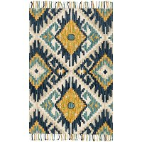 Magnolia Home Furniture 2 x 4 X-Small Green and Gold Area Rug - Brushstroke