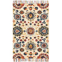 Magnolia Home Furniture 2 x 4 X-Small Red and Blue Rug - Brushstroke
