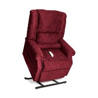 Burgundy Reclining Infinite Position Lift Chair