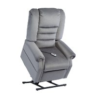Charcoal Chaise Power Reclining Lift Chair