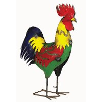 Multi-Color Metal Rooster