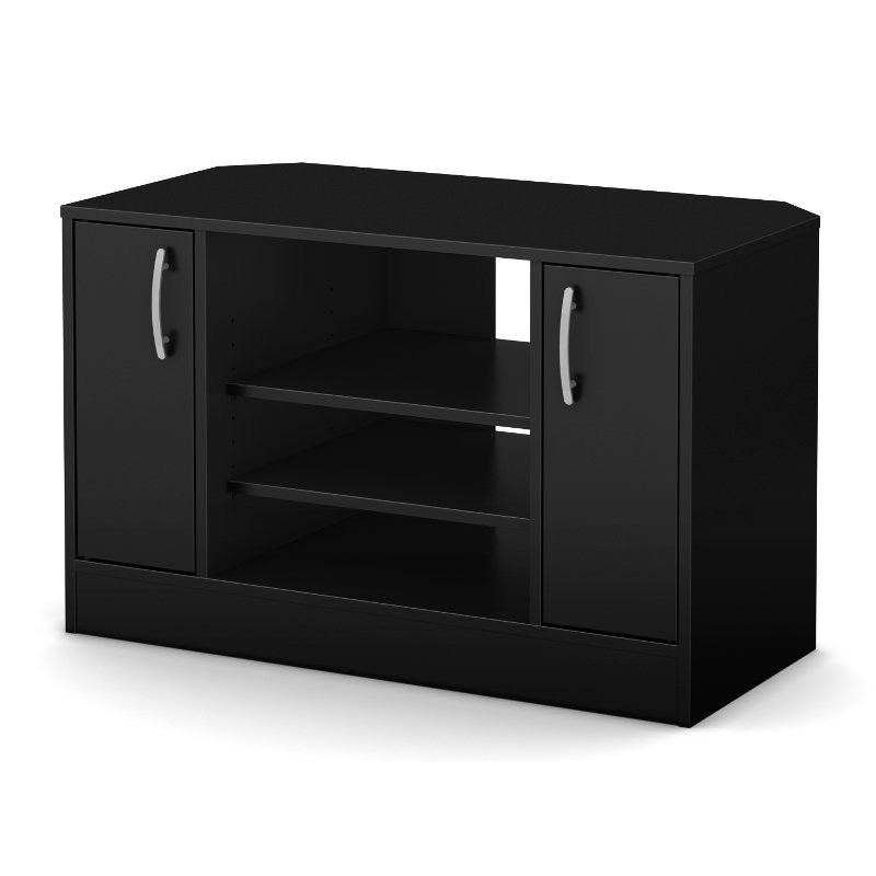 Corner TV Stand w/Doors for TVs up to 42 Inch - Axess