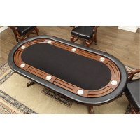 Brown Cherry and Black Game Table - Franklin