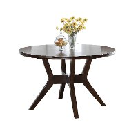 Espresso 48 Inch Round Dining Table - Barney