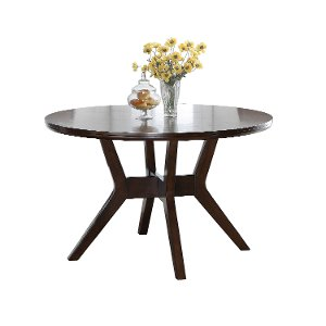 Espresso 48 Inch Round Dining Table