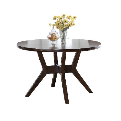 Espresso 48 Inch Round Dining Table Barney