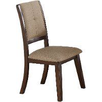 Espresso Upholstered Dining Chair - Barney Collection