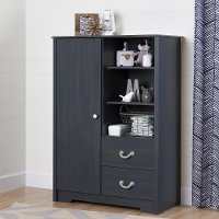 10419 Armoire with Drawers in Blueberry - Aviron