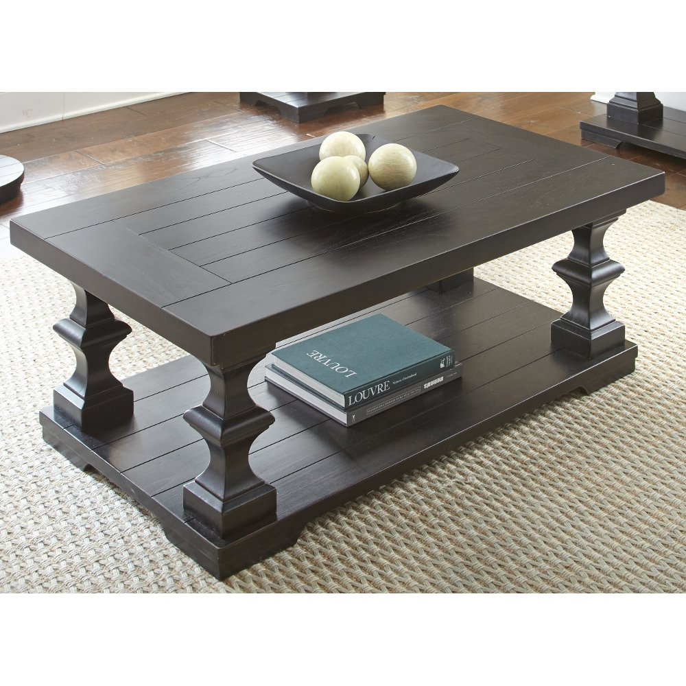 Coffee table coffee tables rc willey furniture store ebony coffee table dory geotapseo Images