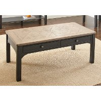 Ebony and Driftwood Coffee Table - Leighton