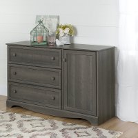 10423 Gray Maple 3-Drawer Door Dresser - Savannah