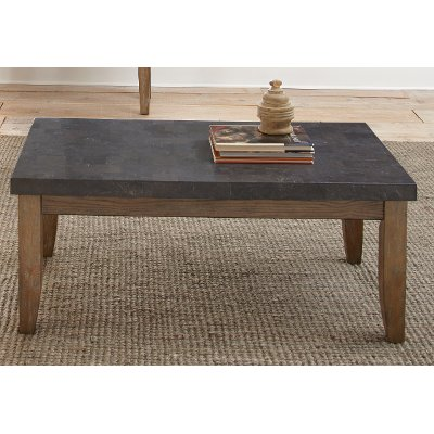 modern contemporary bluestone top coffee table - debby | rc willey