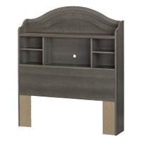 10425 Gray Twin Bookcase Headboard - Savannah