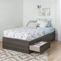 10426 Gray Maple Twin Mates Bed with 3 Drawers (39 Inch)  - Savannah