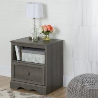 10427 Gray Maple One-Drawer Nightstand - Savannah