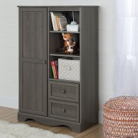10428 Gray Maple Armoire with Drawers - Savannah