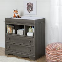 10429 Gray Maple Changing Table with Drawers - Savannah