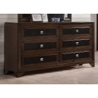 Contemporary Cappuccino Brown  Dresser - Sussex