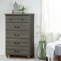 10240 Maple Gray 5 Drawer Chest - Noble