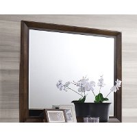 Clearance Contemporary Cappuccino Brown Mirror - Sussex