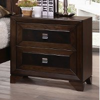 Contemporary Cappuccino Brown Nightstand - Sussex